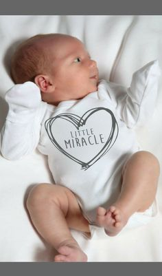 """""""Little Miracle"""" Custom Newborn Bodysuit - Going Home Outfit, Baby Girl Gift, Baby Boy Gift, Baby Shower Gift Idea, Custom Baby Gift, Personalized Newborn Gift, Birth Announcement Photo Props, Birth Announcement Pictures Outfit, Newborn Pictures Ideas, Fold Over Sleeves, Newborn Fingernail Protectors, Unique Gift for Baby, Baby's First Christmas, Baby's First Easter #ad #littlegirloutfits"""