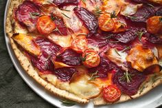 Beetroot, potato and kumara pizza with rosemary http://www.taste.com.au/recipes/30375/beetroot+potato+and+kumara+pizza+with+rosemary
