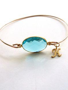 Gemstone Bangle Bracelet Gold Bangle by vintagestampjewels on Etsy