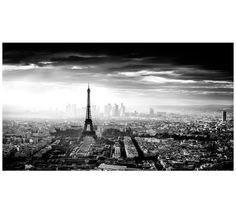 QUADRO PARIS SKY ACRILICO CINZA/PRETO 100X180CM