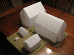 Origami houses for CHIP, the Coalition for Homelessness Intervention and Prevention of Greater Indianapolis, folded by Brian Designed by Tro...