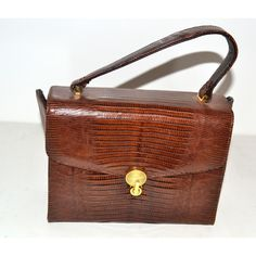 4c3c8e46a3 Vintage Brown Lizard Boxed Purse By Sterling  pursesquirky Sterling Brown