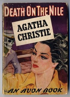 Death on the Nile by Agatha Christie. Golden Age British crime fiction, US paperback edition book cover.