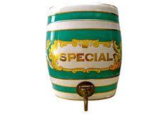 English Porcelain Liquor Barrel on OneKingsLane.com