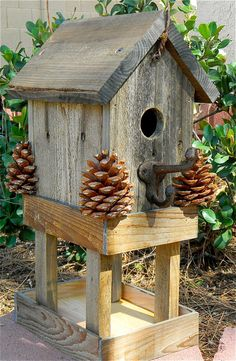 Birdhouse Rustic Bird Feeder 276. $24.95, via Etsy.
