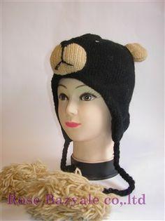 Woolen Animal Hand Made Knitt Hat Bear!