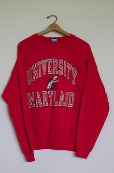 University of Maryland Sweatshirt by CapItOffVintage on Etsy