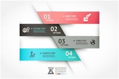 Modern Infographic Origami Template by Graphixmania on Creative Market