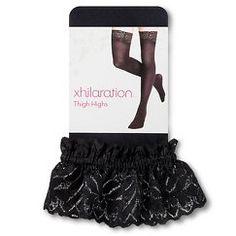 Women's Thigh High Tights Black - Xhilaration™