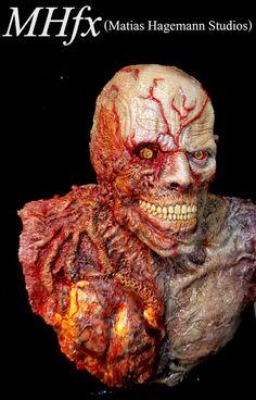 Tyrant 002, Biohazard a.k.a. Resident Evil video game. Scale bust 1/2. by Matias Hagemann