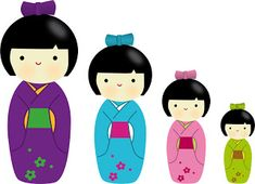 Borboleta Azul: Bonecas Kokeshi