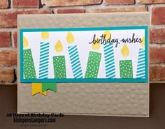 Stampin' Up! Build a Birthday still a great set for quick & easy birthday cards.