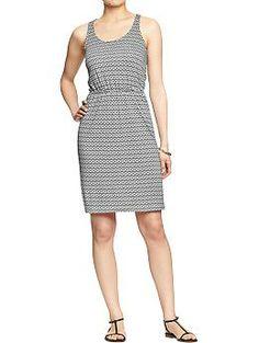 Womens Jersey Tank Dresses. M. Black print. 5.10.14. $24.94. #954088
