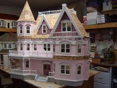 Front Opening Federal Manor Dollhouse Kit, Milled MDF ON SALE!