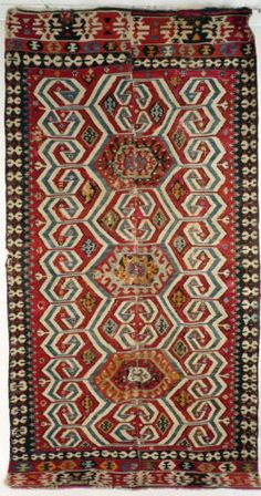 A-19th-Century-Turkish-West-Anatolian-Kilim-from-Aydin-Karaman-Region