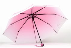 Sweet gradient color folding umbrella from Fashion Kawaii [Japan & Korea] Clear Umbrella, Folding Umbrella, Cool Umbrellas, Ladies Umbrella, Vintage Umbrella, Cute Room Decor, Gradient Color, Red And Blue, Pink