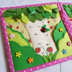 Could add a peek a boo bunny and bird in the tree. Quiet Book ideas