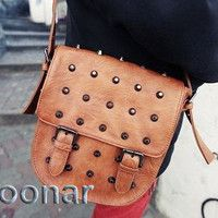 Retro Fashion Women's Rivet Messenger Satchel Shoulder Bags Sling Handbag Purse