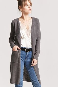 Product Name:Longline Brush Knit Cardigan, Category:sweater, Price:15