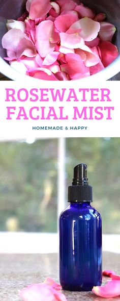 DIY Rosewater Face Mist - Homemade and Happy  #face #skincare