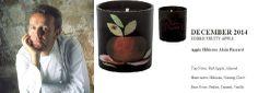 Alain Passard for Quintessence Paris  2014 Calendar Collection . Apple Hibiscus (EDIBLE FRUITY APPLE) 140g Candle  http://french-studio-imports.myshopify.com/ #FSI