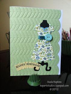 Card I made using SU! Dress Up Framelits.