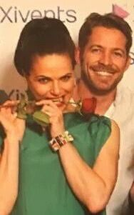 Awesome Lana and Sean Lana being funny with an awesome rose in her teeth #FairyTales4Con #Versailles #Paris #France Saturday 6-18-16