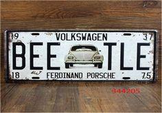 Aliexpress.com: Comprar 15 * 30 cm de lujo de coches de matrículas Vintage Metal muestra estaño cartel Bar Cafe Shop VOLKSWAGEN ZX E0065 de signo de la impresora fiable proveedores en freebuy