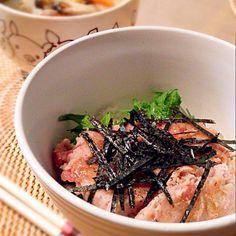 最後の最後にネギがないことに気づいた…(;´∀`) - 104件のもぐもぐ - 葱なしのネギトロ丼&ぶー汁♡ by cocotay