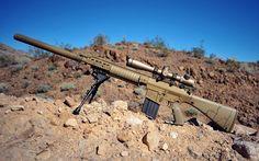 Sniper with silencer Weapons Guns, Guns And Ammo, Armas Airsoft, Sr 25, Ar Rifle, Armas Ninja, Revolver Pistol, Battle Rifle, Military Guns