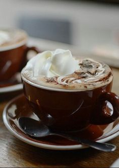 cappuccino with whipped cream