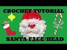 Crochet santa face/head ornament tutorial - YouTube