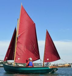 My Drascombe Lugger 'Skylark', sailing in the River Tamar. A excellent, small, gunter-rigged sailboat, capable of being trailer-sailed and easily launched.