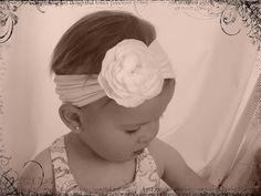 Baby headband from tights