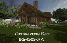 Lovely covered porch for outdoor enjoyment. 3d House Plans, Porch House Plans, Craftsman Cottage, Open Floor, Porches, Floor Plans, Cabin, How To Plan, House Styles