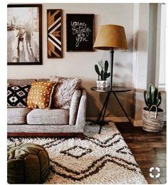 Minimalist Decor - My Minimalist Living Western Living Rooms, Chic Living Room, Cozy Living Rooms, Apartment Living, Living Room Furniture, Cozy Apartment, Apartment Interior, Apartment Ideas, Diy Living Room Decor