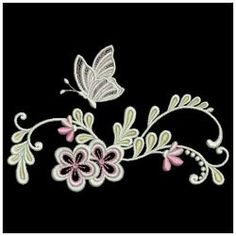 Swirly Butterflies 4 06(Lg) machine embroidery designs
