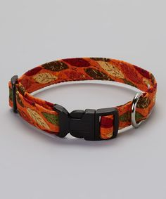 Elmou0027s Closet Orange Leaf Collar