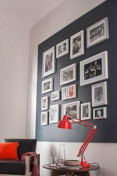 Cadre géant de cadres photos - Déco : des photos plein les murs - CôtéMaison.fr