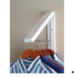 Create extra closet or drying space anywhere with this InstaHANGER White ABS Plastic Collapsible Wall Mounted Clothes Hanging System. Laundry Room Remodel, Laundry Closet, Laundry Room Organization, Laundry Room Design, Laundry Rooms, Laundry Tips, Utility Closet, Laundry Room Layouts, Laundry Area