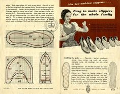 Make-do-and-mend!! Make Slippers for the Whole Family, World War II-Style!  Isn't this great!!