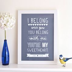 Personalised Lumineers Print from notonthehighstreet.com