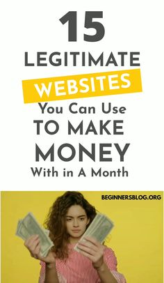 Here you'll find 15 legitimate websites to make money online from with no experience. #Makemoneyonline #makemoney #earnmoney #makemoneyfast #makemoneyathome #workfromhome #earnfromhome #earningmoney #passiveincome #sideincome
