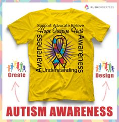 491bb3068 Autism T-Shirt Design Templates | RushOrderTees.com. Autism Awareness MonthDisability  ...