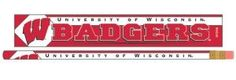 Wisconsin Badgers Pencil 6 Pack