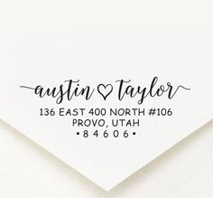 Return Address Stamp, Family Address Stamp, Calligraphy Address Stamp, Calligraphy Custom Address Stamp, Self Ink Modern Wedding Stamp Custom Address Stamp, Custom Stamps, Thank You For Purchasing, Return Address, Blue Green, Handle, Calligraphy, Display, Ink