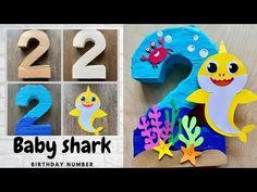 Shark Party Decorations, Diy Birthday Decorations, Girl 2nd Birthday, 2nd Birthday Parties, Birthday Ideas, Shark Birthday Cakes, Birthday Numbers, Number 2, Baby Shark