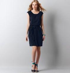 Shirred Neck Peasant Dress
