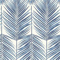 Breezy Leaf Coastal Blue SAMPLE - Blue Sample