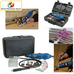Variable Speed Rotary Tool Kit 100 PIECE Accessories Dremel Set Grinder Cutter #WENProducts